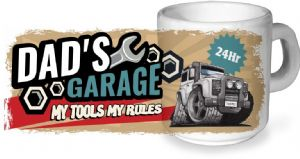 Koolart Dad's Garage Design For Defender Twisted Ceramic Tea Or Coffee Mug